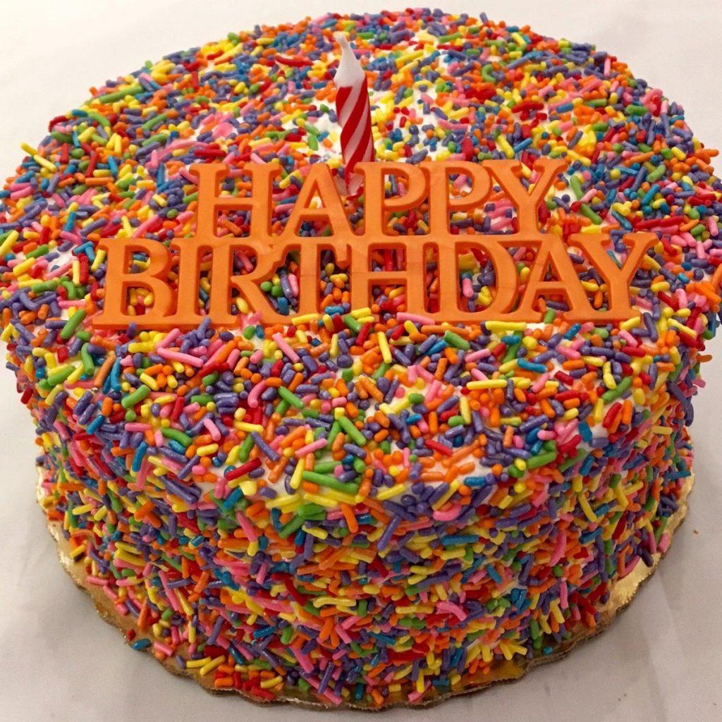 Sprinkles Layer Cake