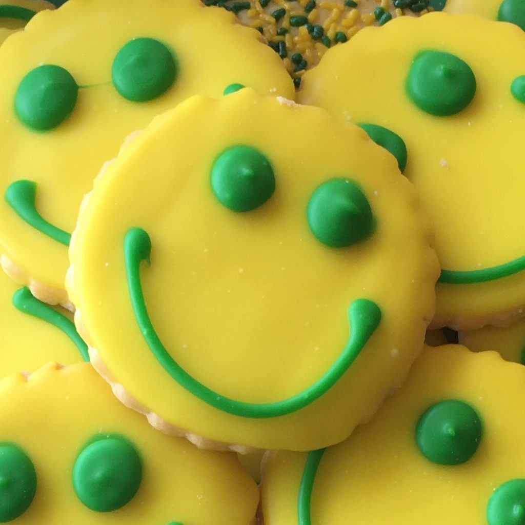Color Smiley Face Cookies