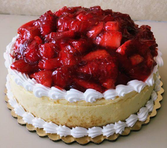 New York Style Strawberry Cheesecake