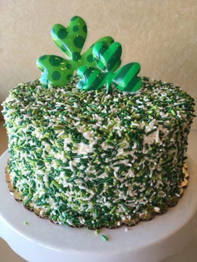 St. Patrick's Day Sprinkle Cake