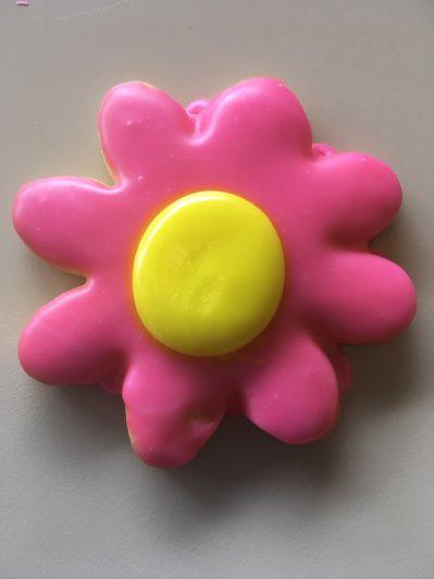 Pink Flower Power Cookie
