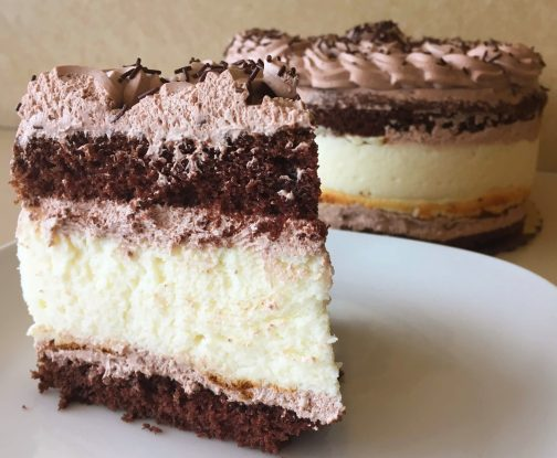 Chocolate Cheese Torte Cut
