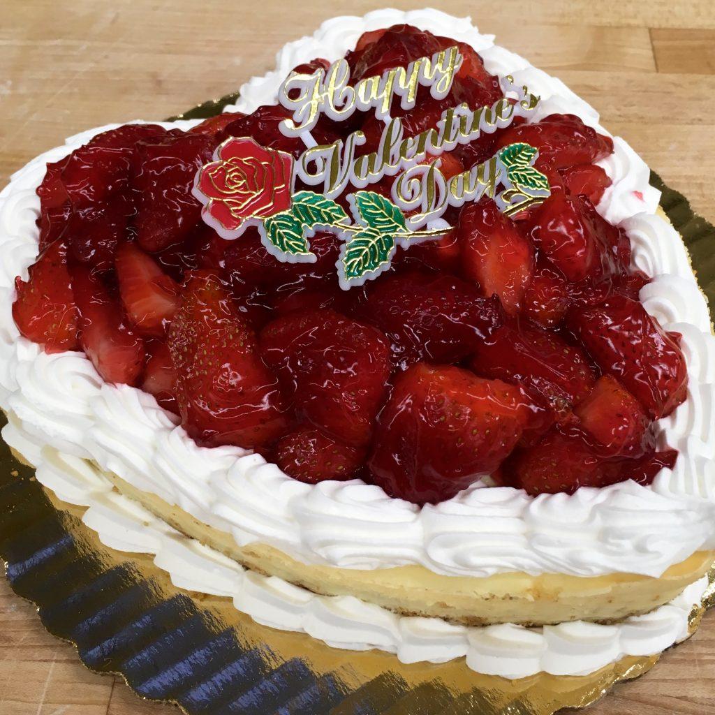 """9"""" Strawberry Cheesecake Heart 2"""