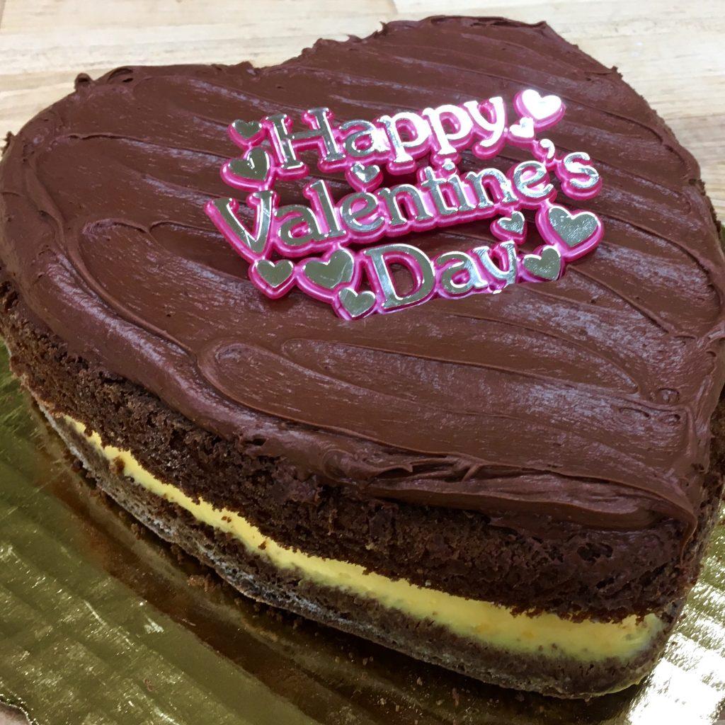 Boston Cream Pie Heart - Valentines Day
