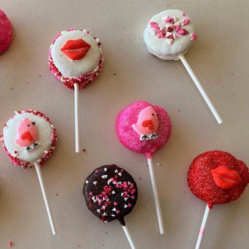 Brownie Lollipops - Valentine's Day