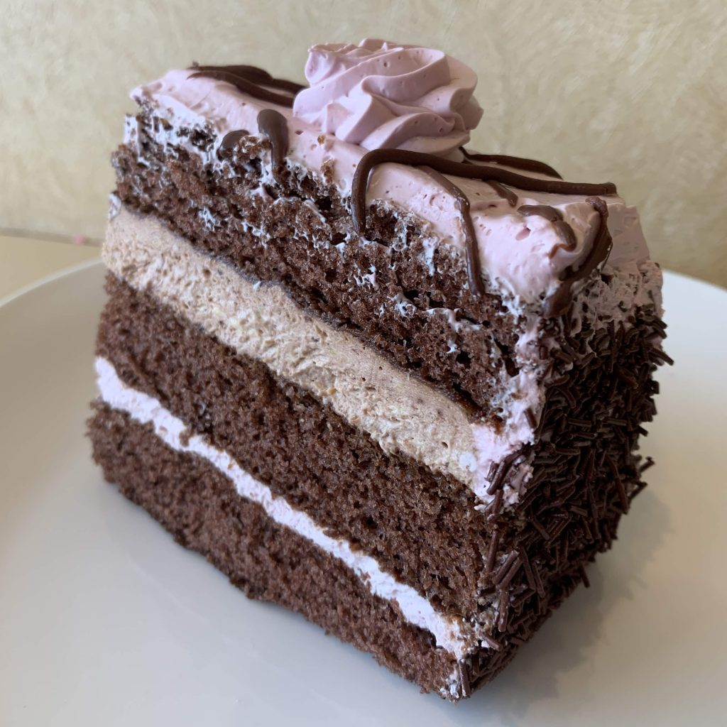 Chocolate Raspberry Cake Slice