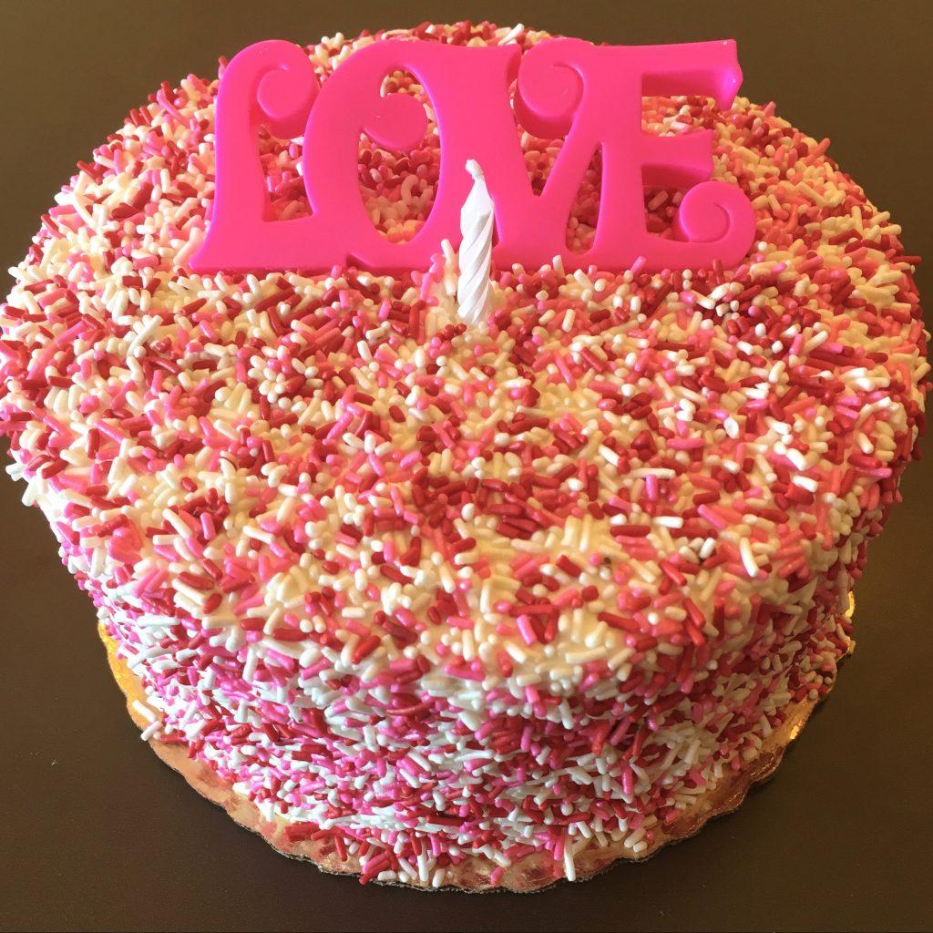 Valentines Sprinkle Cake
