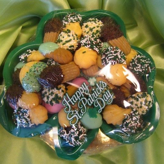 Clover Buttercookie Tray - St. Patricks Day