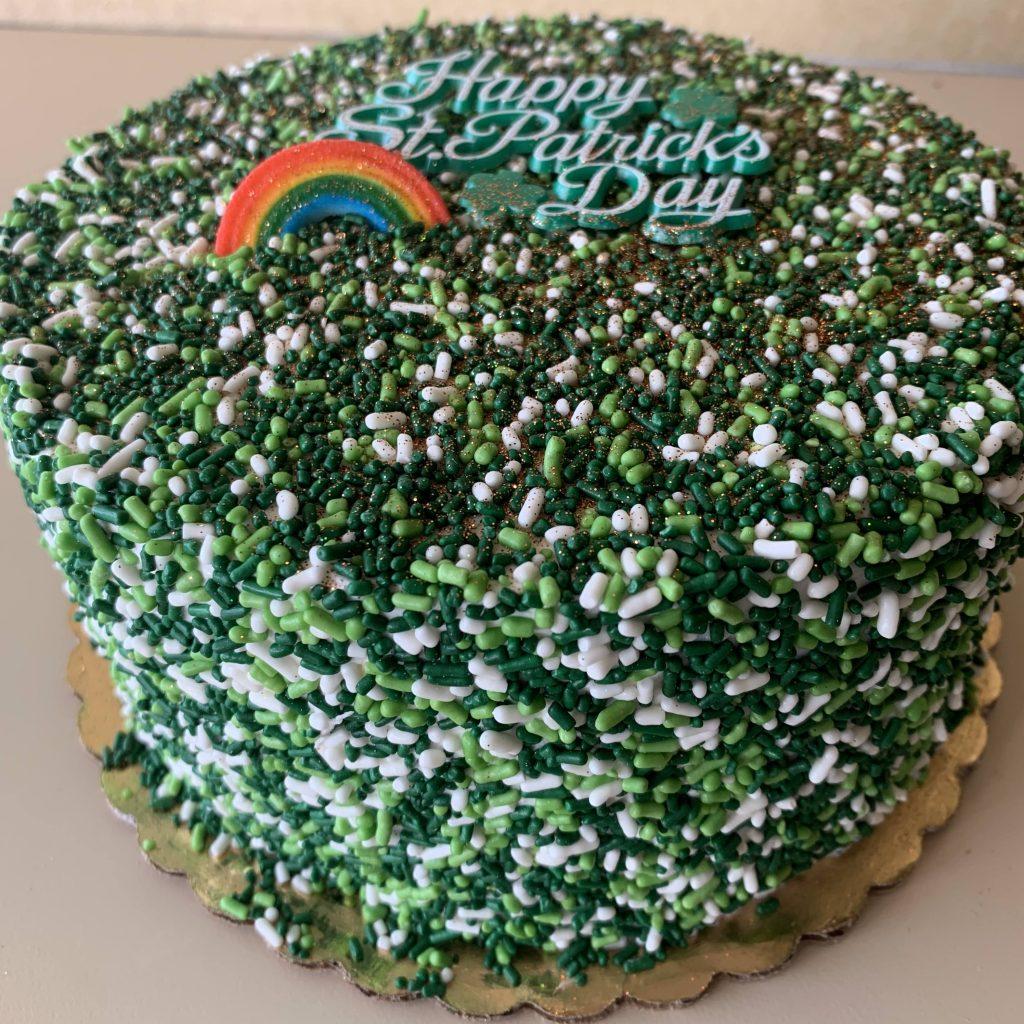 Sprinkle Cake - St. Patricks Day