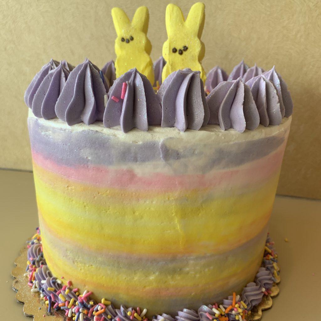 Peep Bunny Cake - Easter