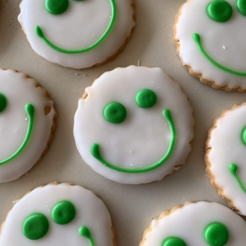 Smiley Face Cookies - St. Patricks Day