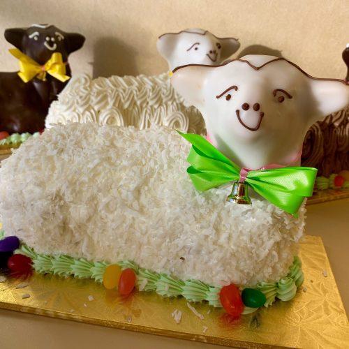 Coconut Lamb Cake - Easter