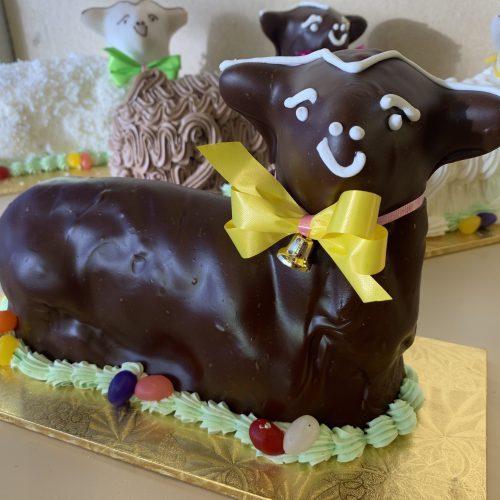 Chocolate Fondant Lamb Cake - Easter