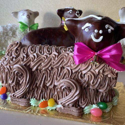 Chocolate Buttercream Lamb Cake - Easter