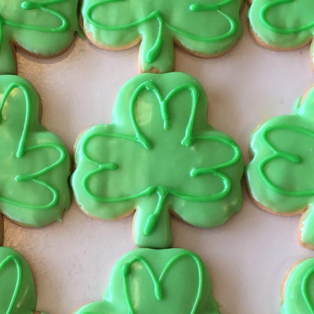 Iced Shamrock Cookie - St. Patricks Day