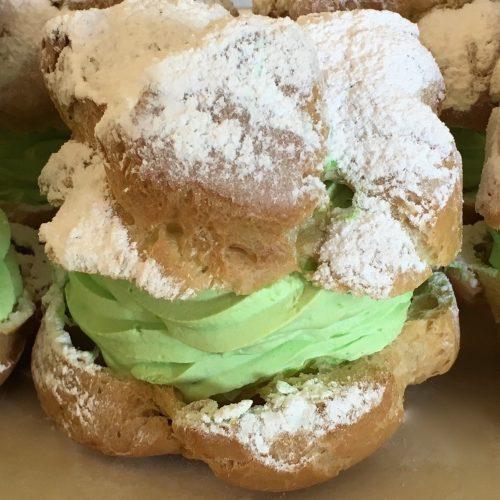 Green Cream Puffs - St. Patricks Day