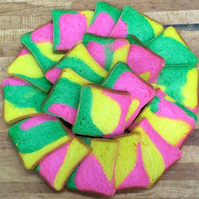 Rainbow Bread - Easter