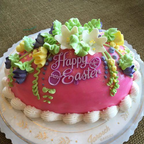 Pink Egg Cake - Easter