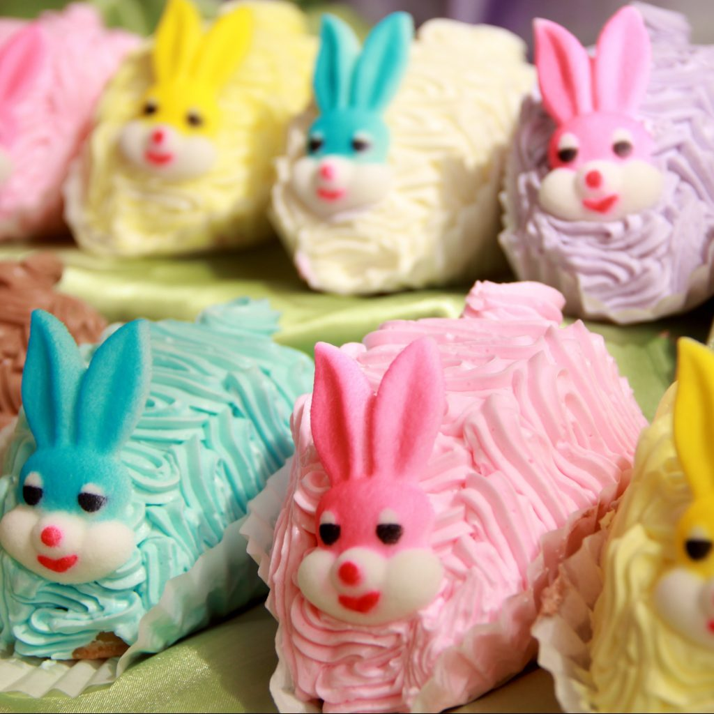Baby Bunny Cakes - Easter