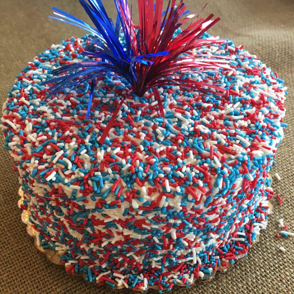 Sprinkle Cake - Patriotic