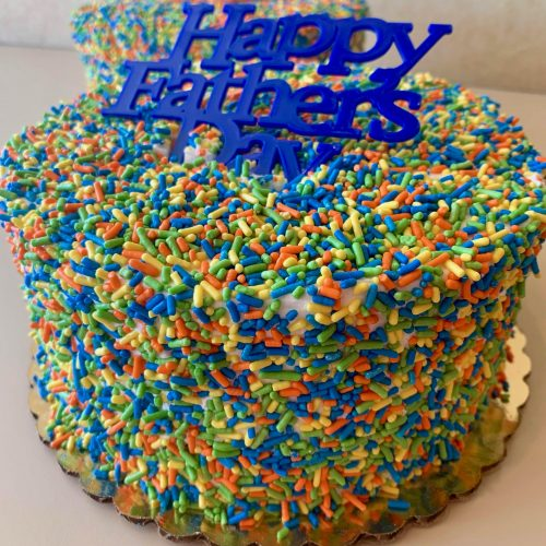 Father's Day Sprinkle Cake