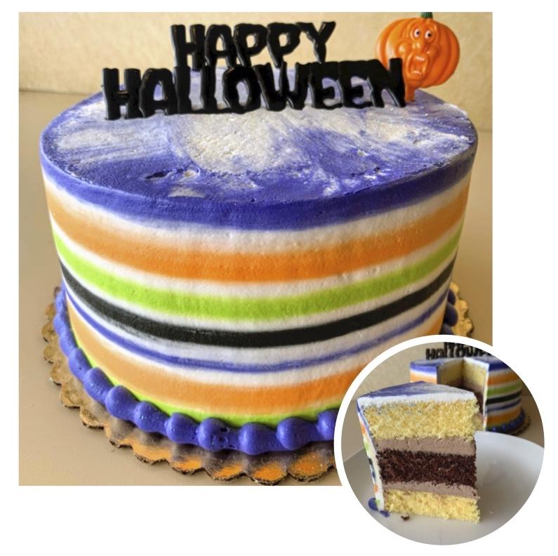 Striped Halloween Cake