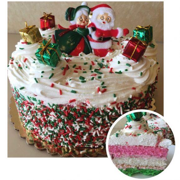 Christmas Whipped Cream Torte