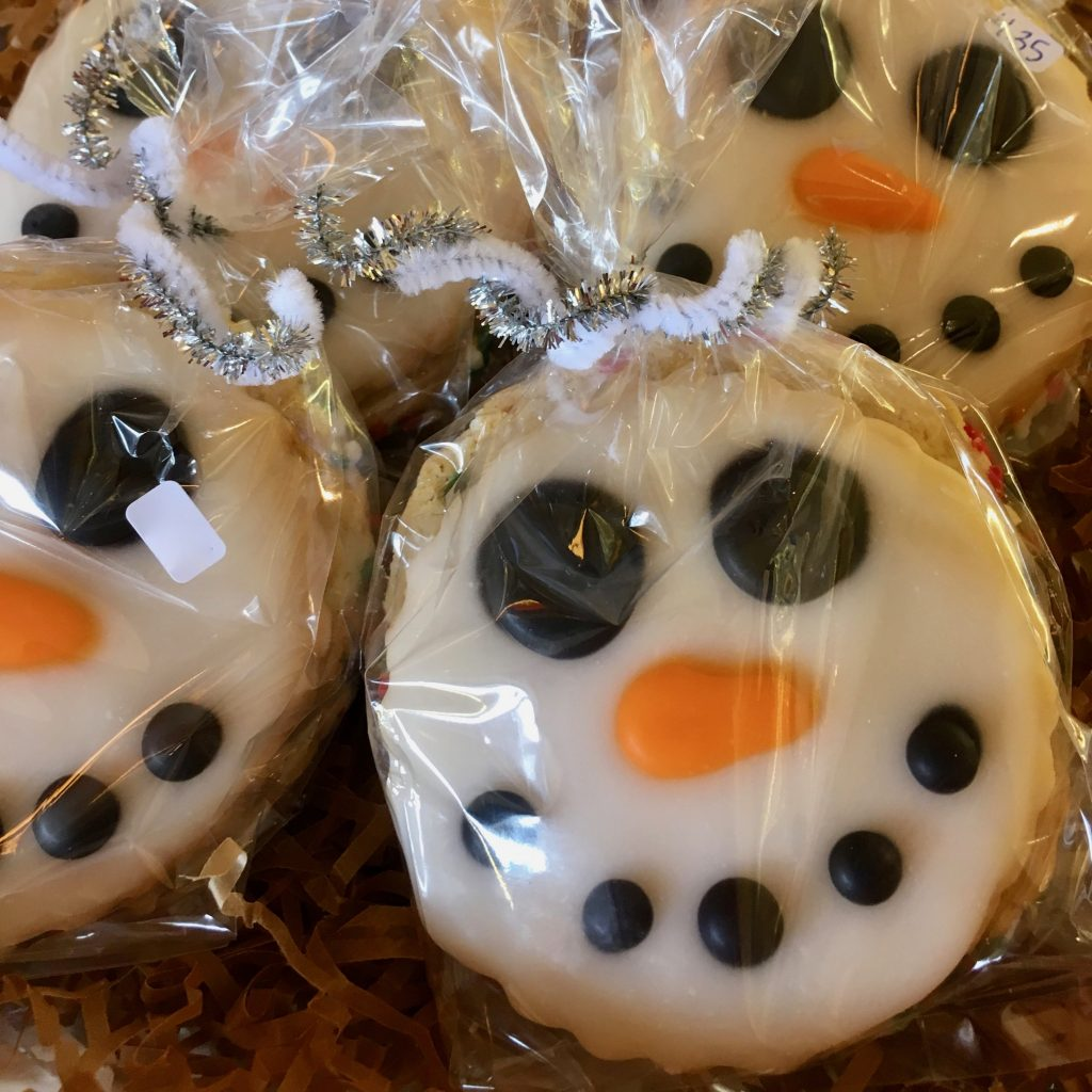 Snowman Face Cookie Bags