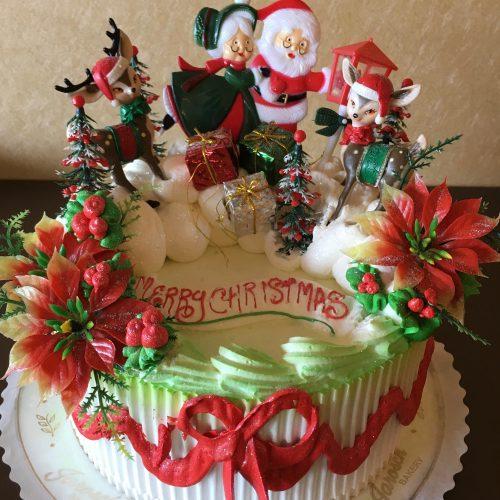 Christmas Set Deco Cake