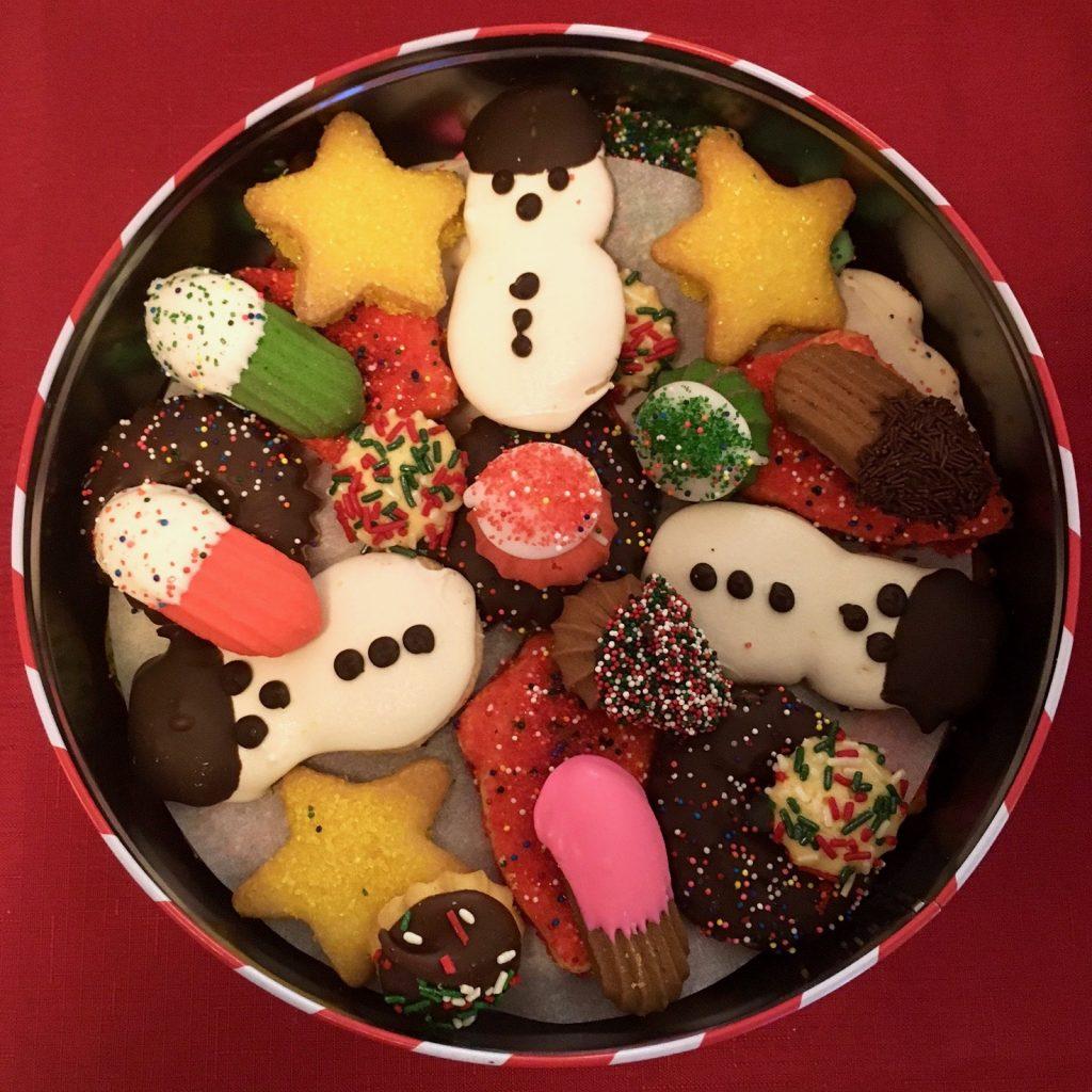 3 1/2# Cookie Tin Christmas