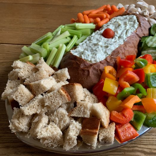 Dill Dip Rye Bread Platter - Football Game Day 2020