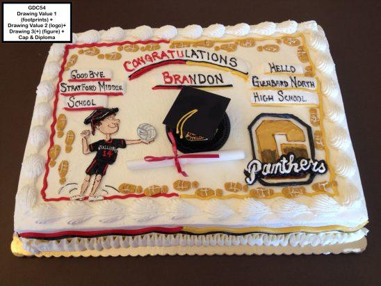 custom graduation decorated cake high school