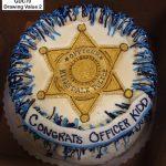 custom graduation decorated cake police academy