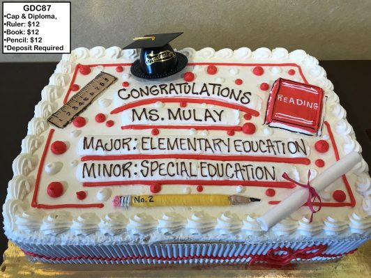 custom graduation decorated cake teacher education