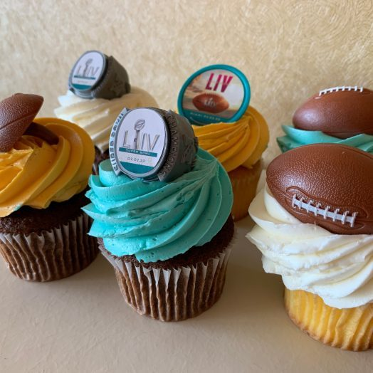 Game Day Football Cupcakes 2020
