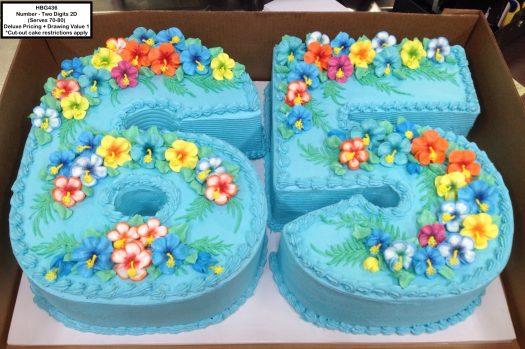 custom birthday decorated cake number tropical hawaiian