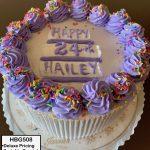 custom birthday decorated cake sprinkles dollops