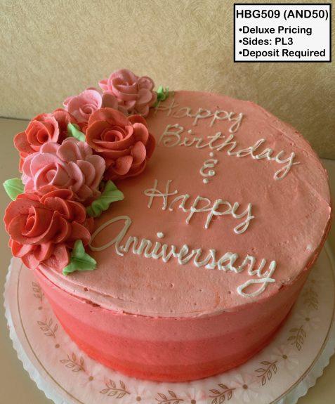 custom birthday decorated cake coral roses