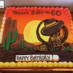 custom birthday decorated cake western cowboy