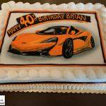 custom birthday decorated cake car