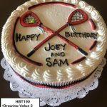custom birthday decorated cake teen lacrosse