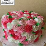 custom birthday decorated cake teen rosettes roses floral