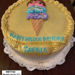 custom birthday decorated cake teen gold ice cream