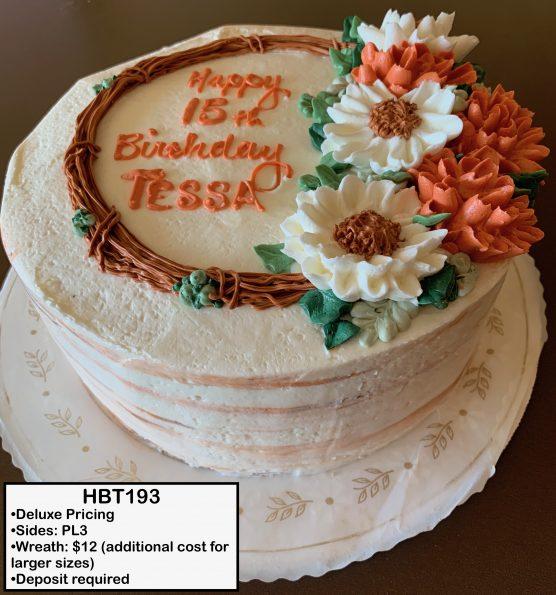 custom birthday decorated cake teen mums flowers daisies fall