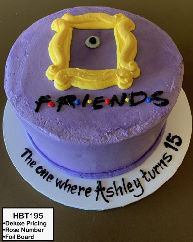 custom birthday decorated cake teen friends