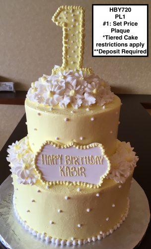 custom decorated birthday tiered cake daisies