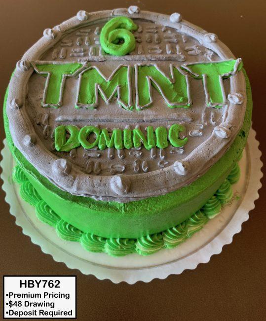 custom decorated birthday cake tmnt ninja turtles