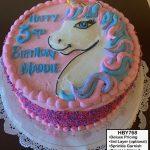 custom decorated birthday cake unicorn