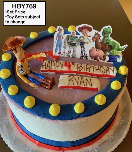 custom decorated birthday cake toy story