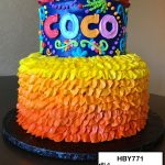 custom decorated birthday tiered cake coco